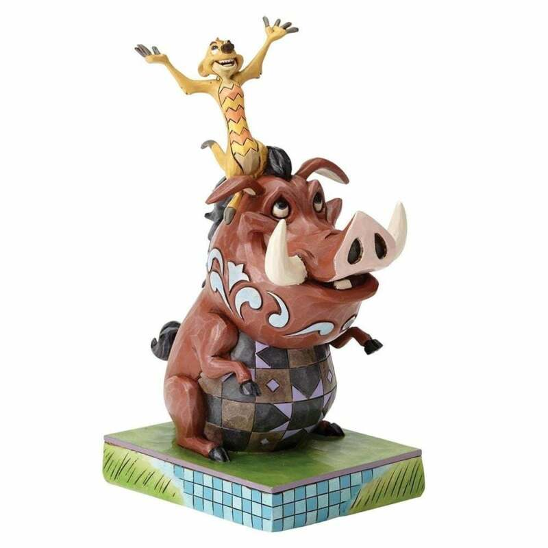 Disney Traditions Carefree Cohorts Timon and Pumbaa Figurine New Boxed 4054281