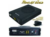 Phoenix Gold 150w Slim Compact Active Under Seat Boot Mount Bass Spaeker Enclosure