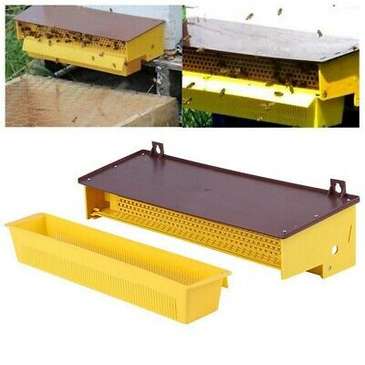 Bee Collector Trap Plastic Pollen Tray Honeycomb Pollen Box Powder Removable
