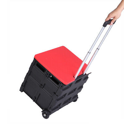 2 Wheels Rolling Utility Cart Heavy Duty 80lb Load Collapsible Handcart