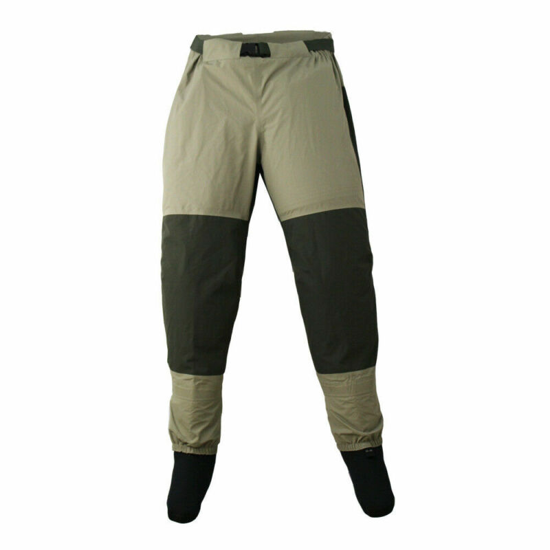 Fly Fishing Waders Pants Stocking Foot Waterproof Wading Trousers Waist Wader