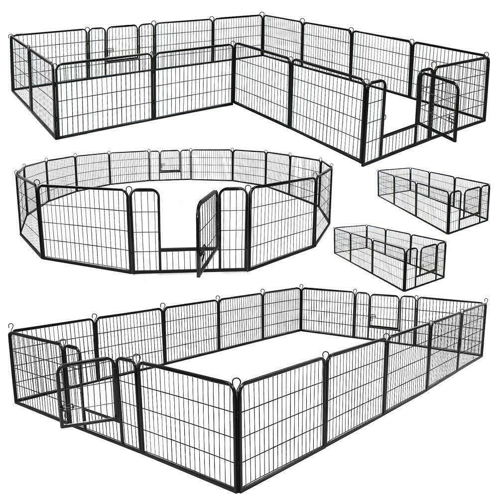 Heavy Duty 8/16 Panel Metal Cage Crate Pet Dog Exercise Fenc