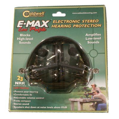 New  Authentic Caldwell Emax Low Profile Electronic Ear Muffs Model  487557
