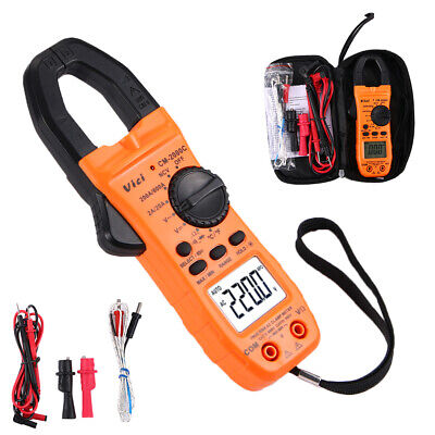 New Clamp Meter Tester Acdc Multimeter Test Ncv Resistance Temperature Us Ship