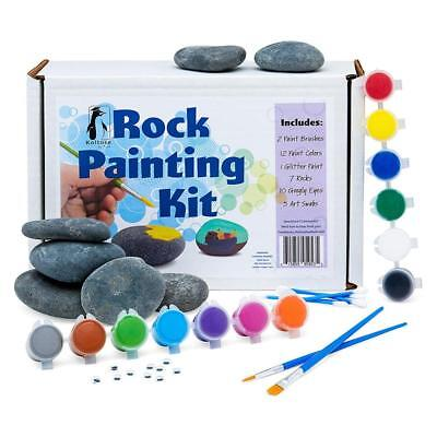 Rock Painting Kit, Supplies Set, River Arts and Crafts Projects for Kids Adults  - Arts And Crafts For Adults