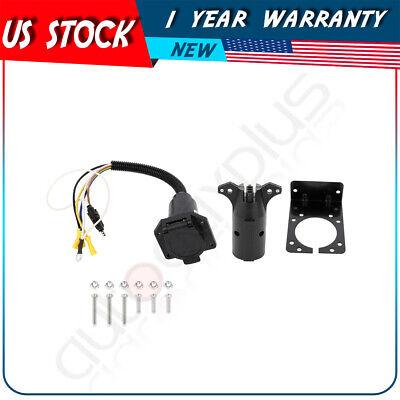 4 Pin to 7 Pin Trailer Socket Adapter Plug Converter for Trailer Caravan 12V