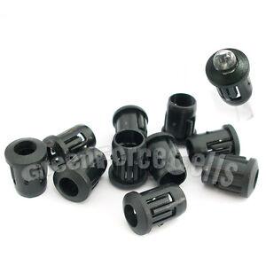 50-Black-Plastic-5mm-LED-Clip-Holder-Display-Panel-Case