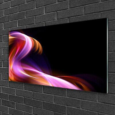Tulup Cuadro en vidrio Impresión Imagen de 100x50 Ola abstracta Arte