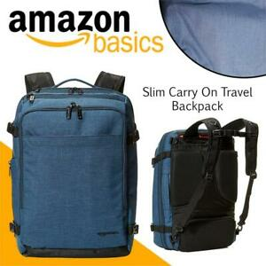 NEW AmazonBasics Slim Carry On Travel Backpack, Green - Weekender Condtion: New