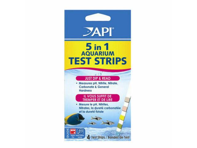 API Freshwater & Saltwater Marine Aquarium 5 in 1 Dip Stick Test Strips 4 Strips