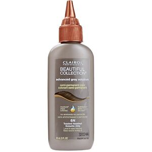 Clairol Gray Solution Semi-Permanent Hair Color, Toasted Hazelnut [6N] 3 oz