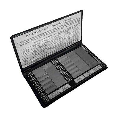 Specimen Surface Roughness Comparator Composite Pocket Set Gauge 30 Pc