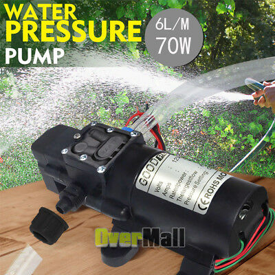 Dc12v 130psi 70w Motor High Pressure Diaphragm Water Self Priming Pump 6lmin