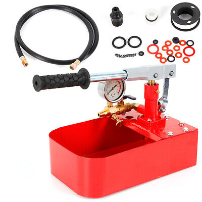 Hand Manual Iron Water Pressure Test Pump Hydraulic Test Tool 1000psi 7mpa Max