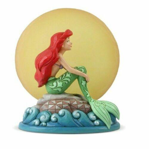 Jim Shore Disney LIttle Mermaid ARIEL SITTING ON ROCK BY MOON 6005954 NEW