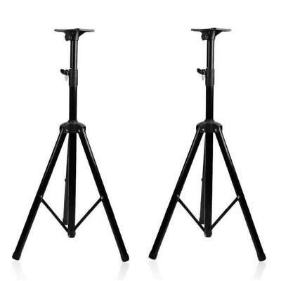 Pair Heavy Duty Tripod DJ PA Speaker Stands Ajustable Height Pole-Mount Stand J0