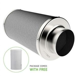NEW VIVOSUN 6 Inch Air Carbon Filter Odor Control with Australia Virgin Charcoal for Inline Fan Pre-filter Included R...
