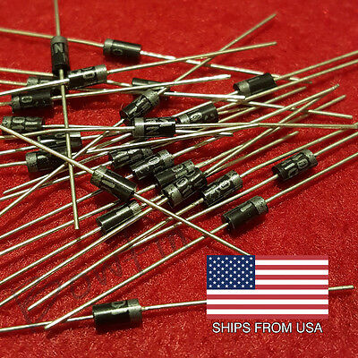 (50 pack) 1N4001 Power Blocking Diodes 1 Amp - Quick & Free Shipping from USA!!!
