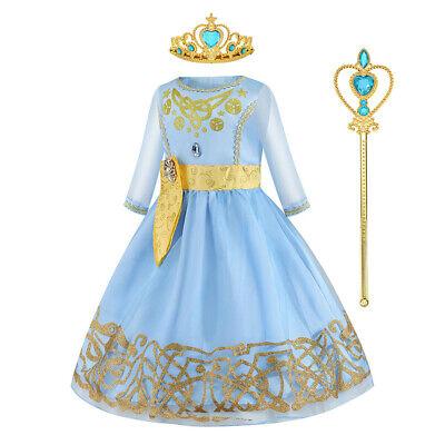 Princess Dresses For Children (2020 Frozen 2 Children Elsa Princess Dress Up for Girls Holiday Cosplay)