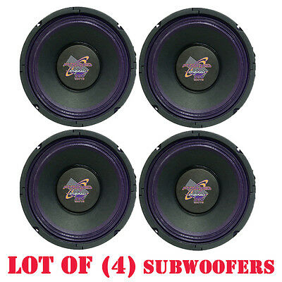 Pack of (4) Pyramid WH88 8-Inch 250 Watt High Power Paper Cone 8 Ohm Subwoofer High Power Paper Cone