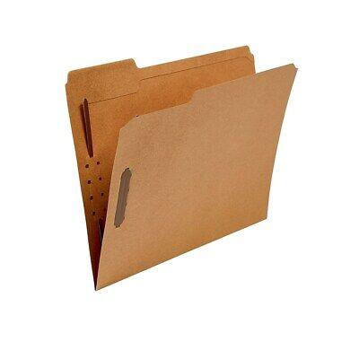 Staples Reinforced Fastener Folders Letter Size Kraft 50/Box 831123