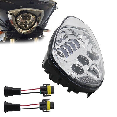 Motorcycle Chrome LED Headlight For Victory Magnum Hammer Vegas Kingpin
