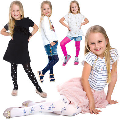 Girls Colorful Tights Lovely Pattern Thin Soft Comfortable Child Age 1-12 6006 - Girls Colorful Tights