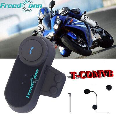 TCOM-VB Motorcycle Intercom Helmet Bluetooth Headset 800M 3 Rider FM Radio 2-Way