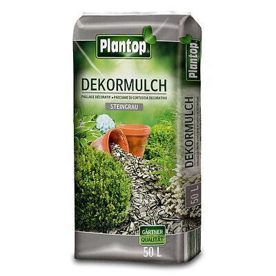 0 Liter steingrau NEU Deko-Mulch 50L Rindenmulch Dekor GRAU (Grau Dekor)