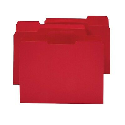 Staples Colored Top-Tab File Folders 3 Tab Red Letter Size 24/Pack 659791