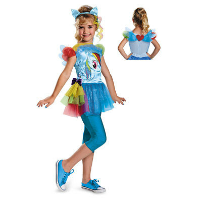 Girls My Little Pony Rainbow Dash Halloween Costume - Rainbow Girl Halloween Costume