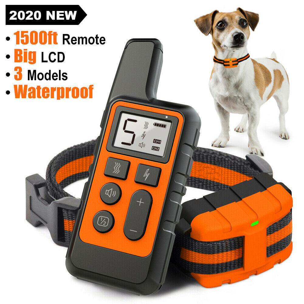 Dog Training Collar Rechargeable Remote Control Electric ...