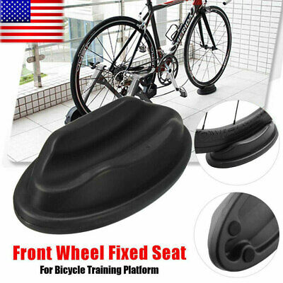 1x Bike Turbo Trainer Front Wheel Riser Black Block Support Bicycle Cycle OP
