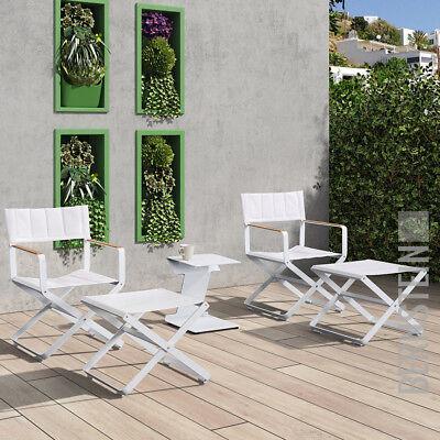 Gartenstuhl Klappstuhl CLINT Set Regiestühle Alu Weiß… |
