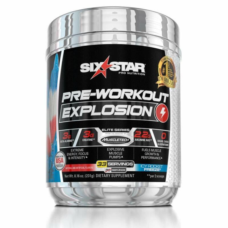 Six Star Explosion Pre Workout, Powerful Pre Workout Powder