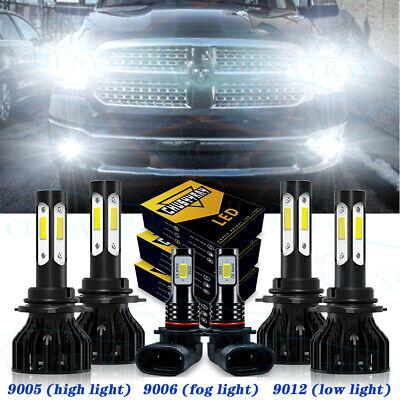 For Dodge RAM 1500 2500 3500 2013 2014 2015 Combo LED Headlight Fog Light Bulbs