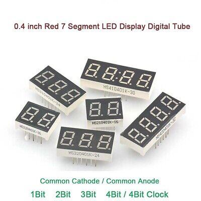 0.4 inch Red 7 Segment LED Display Digital Tube Common Cathode/Anode 1/2/3/4Bit (Common Cathode 7 Segment Led Display)