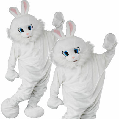 Easter Bunny Mascot Adults Deluxe Rabbit Fancy Dress Costume Mens Ladies New for sale  Shipping to Ireland