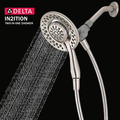 Delta Faucet 75483Dsn In2ition Two In One Hand Held Shower Head  Brushed Nickel