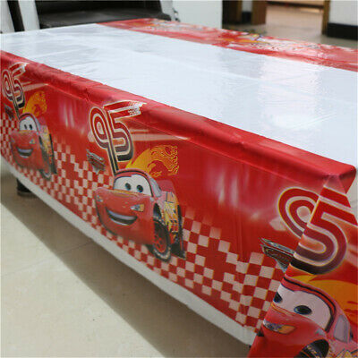 Cars Tablecloth Birthday Party Decoration Kids Tableware Favor Boys Tablecover - Cars Birthday Decorations