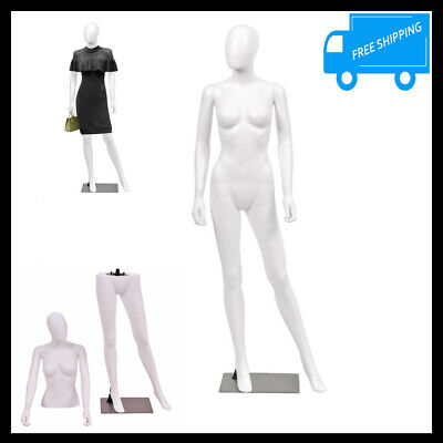 Full Body Female Mannequin Women Dress Form Shop Clothing Display Stand Egghead