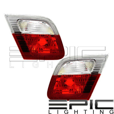 Inner Brake Tail Lights Left Right Pair for 1999-2003 BMW 323CI 325CI 328CI 330C