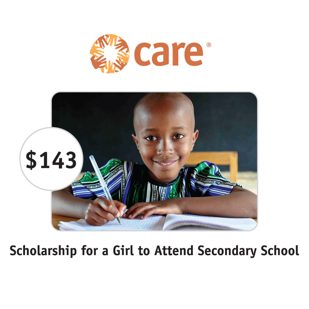 CARE $143 Scholarship for a Girl Symbolic Charitable Donation