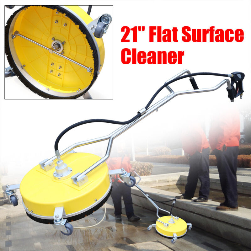 """21"""" Flat Surface Cleaner Hot Cold Water Power Pressure Washer Concrete Driveway"""