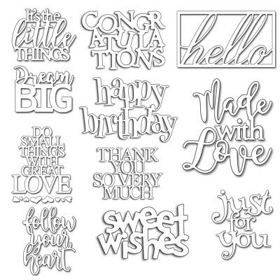 Metal Cutting Dies Stencils DIY Words Scrapbooking Album Paper Crafts Embossing](Scrapbook Paper Crafts)