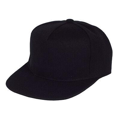 Blank Five Panel Strapback Ball Cap Black Snap Back Supreme HUF 5 Hat Baseball