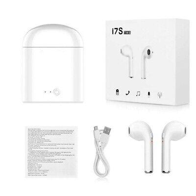 Wireless Earphones Headphones for mobile phones TWIN earbuds UK White I7S TWS