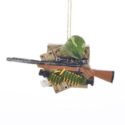 SHOTGUN & SHELLS Hunting Camo Christmas Ornament, 4.25