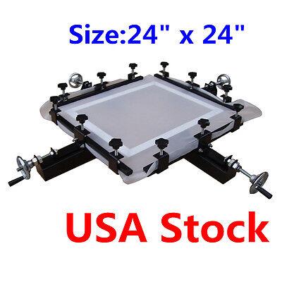 Usa High Precise 24x24 Manual Screen Stretching Machine Screen Print Stretcher