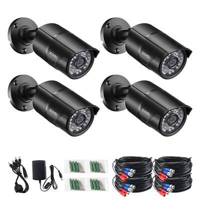 ZOSI 4 PACK 720P 4in1 HD Camera Outdoor CCTV Home Security Surveillance  System